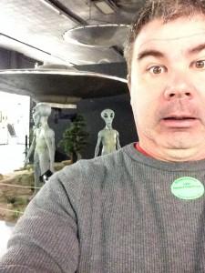 aliens over my shoulder